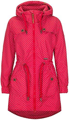 Charlottes E (Alife & Kickin Charlotte A Coat Damen Übergangsjacke, tomato dots, L)