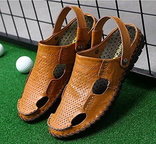 Xing Lin Chaussures D'Été Hommes De Nouveaux Hommes Sandales De Plage À Double Usage De L'Été Chaussures Relaxes Pour Hommes Respirante Chaussons Chaussures Hommes Sandales Hommes Tide 8191 brown