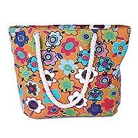 Wewod Canvas Large Capacity Lady Shopping Bag(45cmx10cmx32cm) (D)