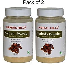 Herbal Hills Haritaki Powder - 100 gms - Pack of 2