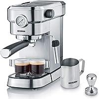 """SEVERIN Espressomaschine """"Espresa Plus"""", Siebträgermaschine mit 3 Einsätzen, Kaffeemaschine mit Milchschäumer und…"""