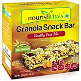 NourishVitals Granola Snack Bar - Healthy Fruit Mix (5 Bars) - 250 Grams