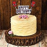 Party Propz Spider Man Theme Happy Birthday Cake Topper