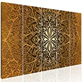 decomonkey | Bilder Mandala 200x80 cm XXL | 5 Teilig | Leinwandbilder | Vlies Leinwand | Wandbilder | Wand | Bild auf Leinwand | Wandbild | Kunstdruck | Wanddeko | Ornamente rosa ethnisch Orient Abstrakt Zen Hippie