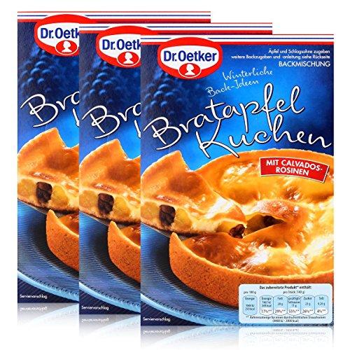 Dr.Oetker Winterliche Back-Ideen Bratapfel Kuchen Backmischung 415g (3er Pack)