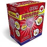 Fiesta Piruletas Chat con forma de Corazón Sabor Frambuesa 80 unidades