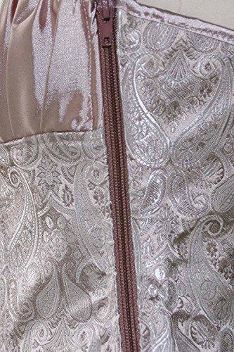 Charmian Princess Creamy Ivory - Damen Vollbrustkorsett - Renaissance-Stil Apricot