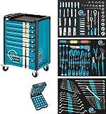 Hazet Werkzeugwagen Assistent 179-7/178, blau/schwarz, Ordnungssystem 3/3+