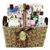 Gloss! Scatola regalo - Premium Bath Set da bagno Floralia Collezione Floralia profumo di lavanda, tè verde e rosa - 21pz - scatola regalo, regalo per le donne