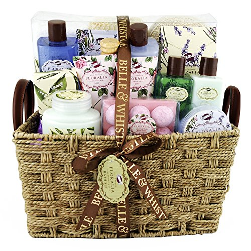 Gloss! Scatola regalo - Premium Bath Set da bagno Floralia Collezione Floralia profumo di lavanda, tè verde e rosa - 21pz - scatola regalo, regalo per le do
