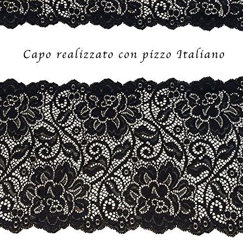 Classic Lady PA0180 Reggiseno in Pizzo Senza Ferretto Strutturato per Taglie Forti Coppa C Foderata in Cotone by Lady Bella Lingerie. Bianco