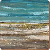 Creative Tops Horizon Opulence Square Cork-Backed Placemats By, Set of 4
