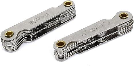 Tradico® 0.4mm-6mm Metric 4G-48G Whitworth Screw Thread Pitch Gauge 2Pcs