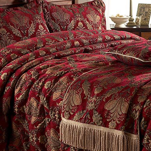 Shiraz manta camino cama–rojo oro–bordado
