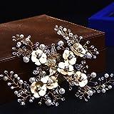MDRW-Accessori Per Capelli Da Sposa E Da Sposa Pearl Diamante Forcina _ Pearl Diamante Di Acconciatura Di Capelli Dorati