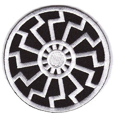 Preisvergleich Produktbild Schwarze Sonne / Sonnenrad (weiß) Aufnäher / Patch