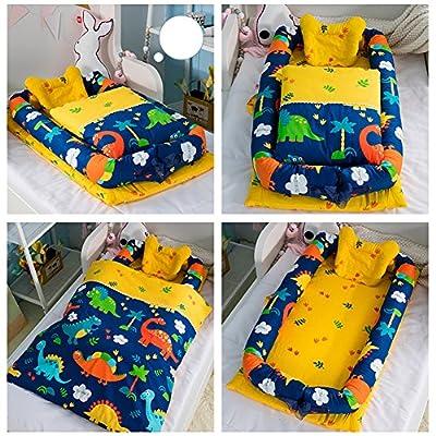 Cuna de bebé con edredón desmontable cama de bebé aislada recién nacido bebé dormir artificial plegable Bionic cama con un edredón (0 – 24 meses)