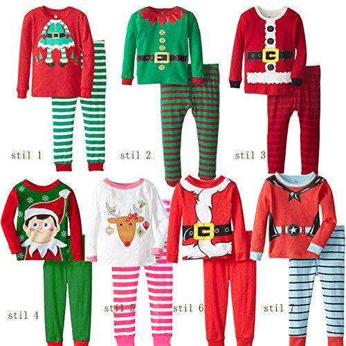 Weihnachts Herren Outfits (Hey~Yo 2pcs Kinder Junge Nachtwäsche Shirt Tops Lange Hosen Kleidung Weihnachten Outfits Kleidung Set (3 Jahr, Stil)