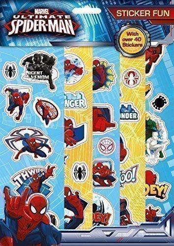 The Home Fusion Company - Marvel Spiderman Aufkleber Spass 5 Blätter Mit Aufklebern