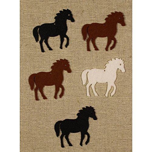 Bastelfilz Figuren Set - Pferd. Filz, Textilfilz, Streudeko -