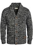 SOLID Philip Herren Strickjacke Cardigan Grobstrick mit Schalkragen aus 100% Baumwolle Meliert