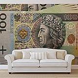 Polnisch Geldnote Zloty - Forwall - Fototapete - Tapete - Fotomural - Mural Wandbild - (504WM) - XL - 208cm x 146cm - VLIES (EasyInstall) - 2 Pieces