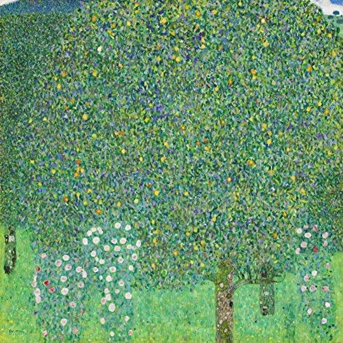 Niik Quadro + Telaio (BC) cespugli di Rose Gustav Klimt 90 x 90 x 4 cm Falso d'autore Stampa su Tela
