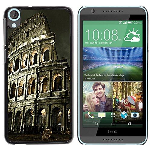 Graphic4You Rome Colosseum Postkarte Ansichtskarte Design Harte Hülle Case Tasche Schutzhülle für HTC Desire 820