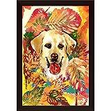 Best Dog Frame - ArtzFolio Autumn Dog Poster Dark Brown Frame Review
