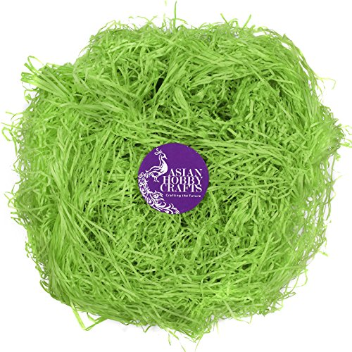 AsianHobbycrafts Paper Grass for crafts project pack of 50g pack : Color : Dark Green