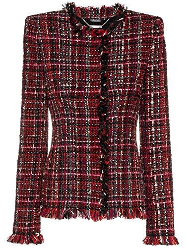 Alexander McQueen Luxury Fashion Damen 475922QLE09REDBLACK Rot Jacke | Jahreszeit Outlet 7