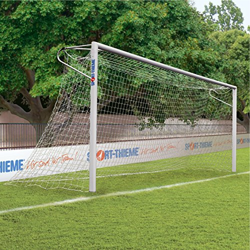 Sport-Thieme® Alu-Fußballtore, 7,32x2,44 m, eckverschweißt, in Bodenhülsen stehend Netzhalter thumbnail