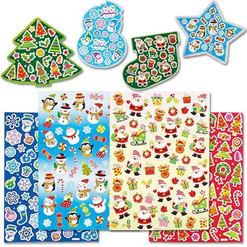 Baker Ross Pack économique d'autocollants de Noël que les enfants pourront utiliser pour décorer les loisirs créatifs et les cartes de Noël (Lot de 280)