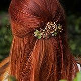 Blume Haar Clip Rose Haar Accessory mit Haar Clip Blume Haarklammer Strass Haarspange Hochzeit Haar Clip Hochzeit Haar Zubehör mit Haar Grip Kristall Haar Clip Haar Schmuck Haarschmuck Haarklammer groß