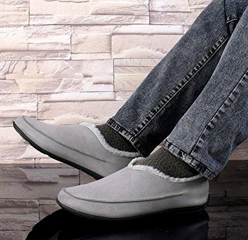 Gris De De Deslizamiento Yijee Los Mocasines Cálido Hombre Mocasines Zapatos Conducta Planos Xwvwqx6EA