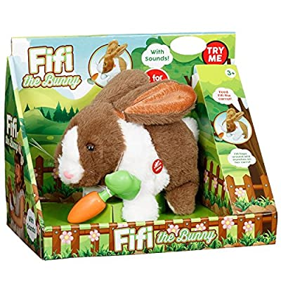 Fifi The Bunny Electronic Soft Pet Rabbit Toy Playset - Brown