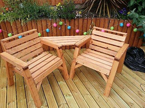 Solid Wooden Garden Furniture Companion Love Set. * SUPER STURDY *