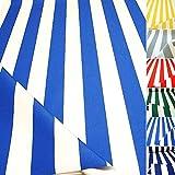 TOLKO Sonnenschutz CLASSIC Markisen-Stoff Meterware zum Nähen mit UV-Schutz 50+ | Wasserdicht, Extra Langlebig - ohne Ausbleichen, 120cm Breite (Blau-Weiß)