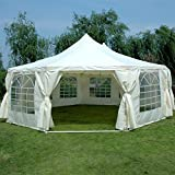 Quictent 9x6.5m(29x21FT) Decagonal Waterproof Heavy Duty Large Marquee Party Tent Garden Gazebo Event Shelter Gala Tent With Large Windows