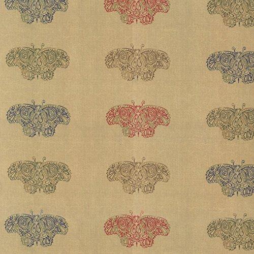 Moda–Woodland Sommer groß Tan Schmetterlinge 60cm Panel (Fabric Moda Panel)