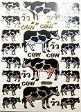 b2see Kuh Sticker Aufkleber Kinder Deko Sticker Aufkleber Kühe Aufkleber Sticker für Kinder Zum aufkleben dekorieren 14 x 9 cm Pro Bogen 2 Stück