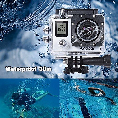 AndoerAndoer 4K 30fps 1080P 60fps Full HD 16MP Action Camera Waterproof 30m  WiFi 2 0