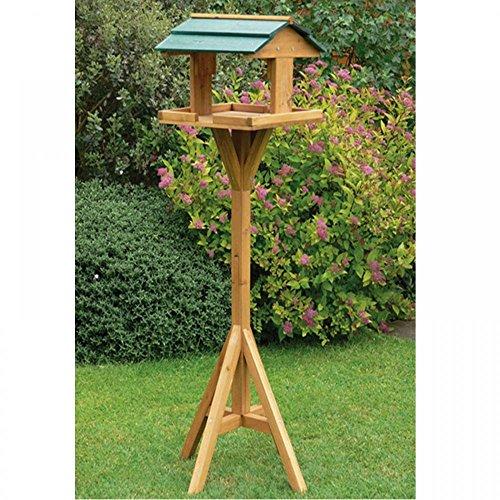 Traditionelle Natur Holz Vogel Tisch Garten Outdoor Birds Futterstation freistehend Nest House (Mesh-stabilisator)