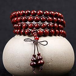 1PC Naturaleza Cuentas de Madera 108 Pulsera Collar de Mala oraci n Budista Enlace mu eca del Desgaste de s ndalo Cuentas de
