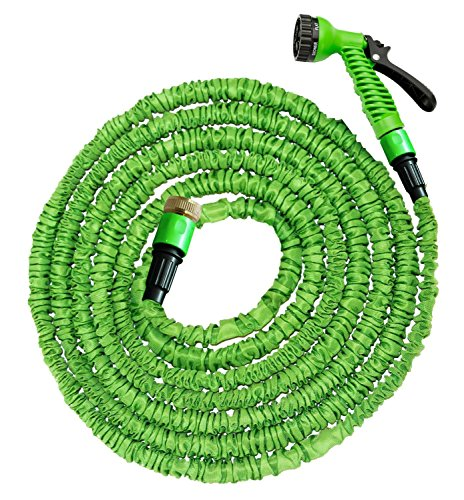 100 Ft Garden Hose Pipe Expandable Hose Pipe | Super Light Weight Expandable Hose Pipe | Natural Latex Triple Layer | 7 Setting Sprayer | Expanding Hose | Magic Hose Expands up to 30 metres / 100 ft (100 Ft Hose)