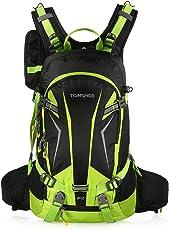 TOMSHOO Fahrradrucksack 20L, Outdoor Rucksack Multifunktionaler Wanderrucksack Skirucksack für Radfahren Reiten Bergsteigen mit Regenschutzkappe und Helmabdeckung
