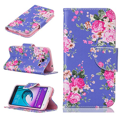 Cozy Hut® Samsung Galaxy J3 Housse, Ultra-mince Etui En Cuir PU Flip Cassette Intérieur Pour Cartes Pour Samsung Galaxy J3 New Mode Fine Folio Wallet/Portefeuille + Stand Support + Card Slot + Magnéti Medicago