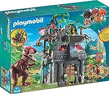 Playmobil-9429 Campamento Base con T-Rex Color no no Aplica (9429