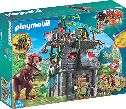 Playmobil-9429 Campamento Base con T-Rex, Color no Aplica (9429)
