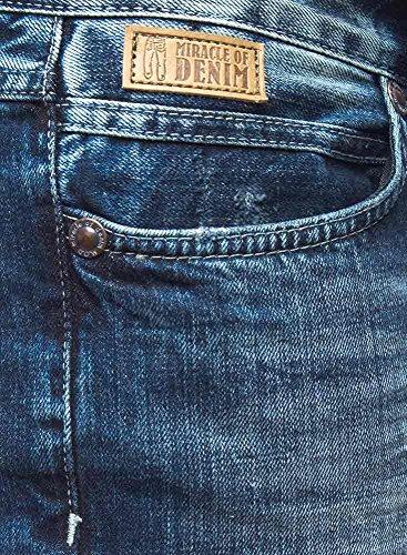 m.o.d uomo gamba diritta jeans blu blu washed denim